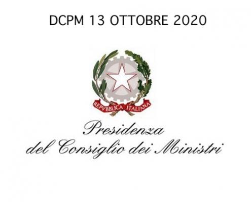 testo DCPM 13 ottobre 2020